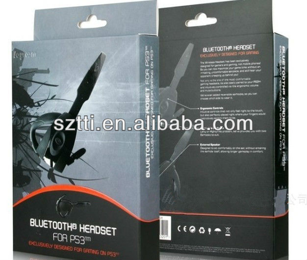 2013 hot selling wireless PS3 gaming bluetooth headset