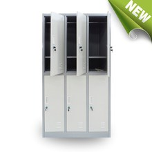 metal furniture 6 door locker hanging clothes and store shoes cabinet