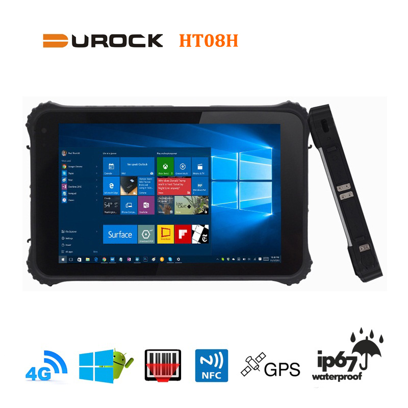 Industry IP67 Waterproof Shockproof Sealed 4G LTE Rugged Tablet Windows 10 with NFC RFID 3G Wifi Bluetooth HDMI RJ45 Lan Port