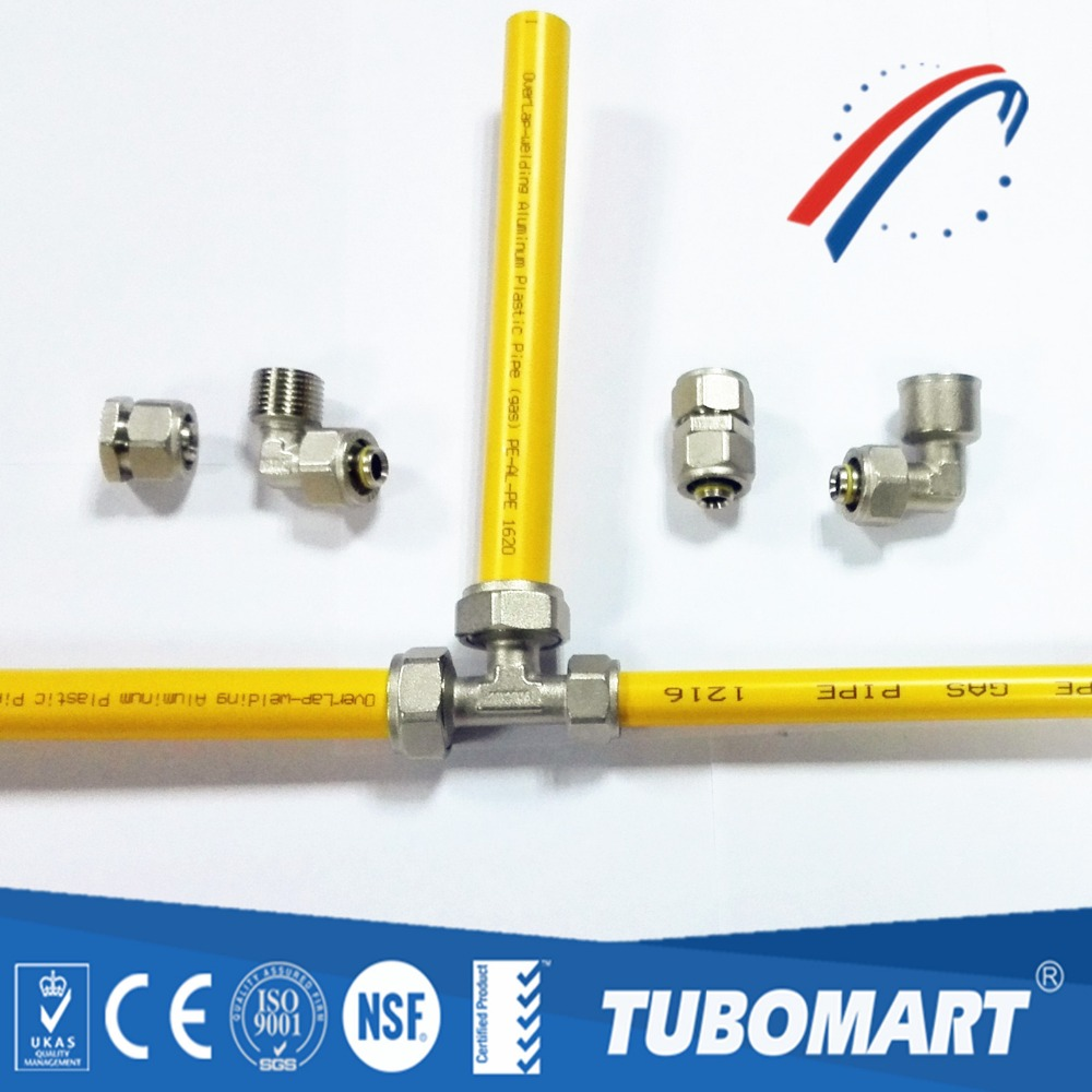 High quality gas pipe compression fittings tee connector