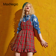 Maxnegio Modern Girls Dresses Streetwear Sexy Indian Spaghetti Strap Dress