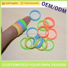 Custom silicone colorful rubber ring finger ring decorative protection band