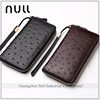 Personalized Wrist Belt Classic Branded Smart Ostrich Leather Wallet For Men