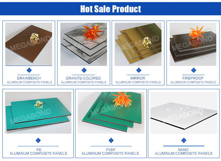 Megabond A2 B1 Grade best quality fire resistant decorative interior exterior wall panel material