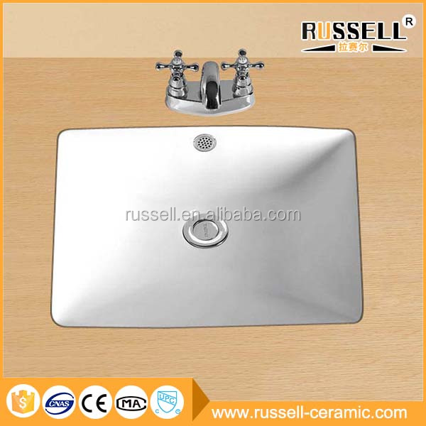 Wholesale modern single bowl undermount bathroom ceramic sink