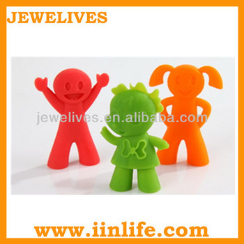 Lovely cartoon Silicone trainning chopstick and spoon holder