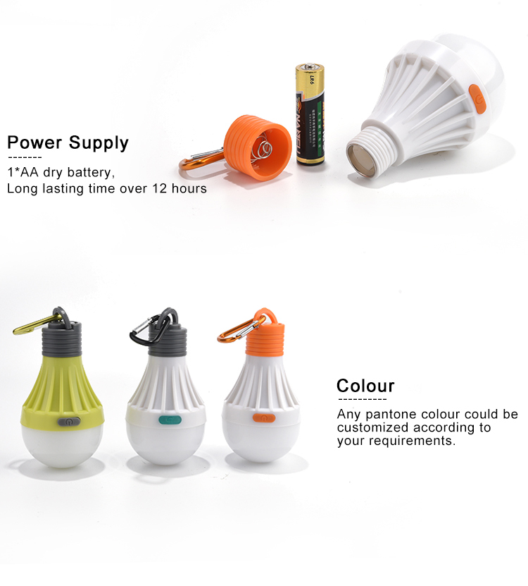 Factory High Quality AA Battery Operated Convenient Easy Carrying Led Bulb Light For Emergencies,Hurricanes, Outages