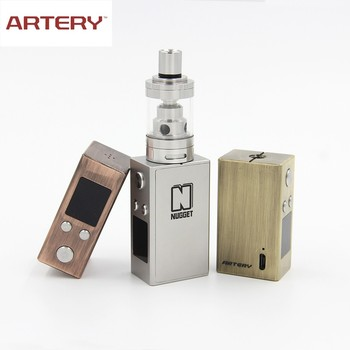 Artery nugget vv box mod temperature control with sand blasting finish design