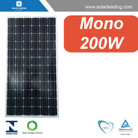 Factory directly 200w pv module solar panel with grid tie micro inverters for grid tied solar panel system