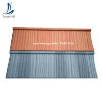 colorful stone chip coated steel roof tiles, steel building material new roof tile, new building material for house plans