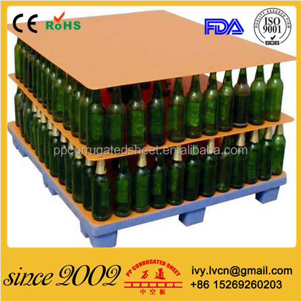 Corrugated Plastic Pallet Sheets for bottles and foods