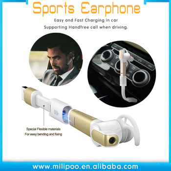 ALL IN ONE CSR 4.0 wireless earbuds in car headset Sports Headphones Dual Earbuds Noise-Cancelling with MIC for iPhone