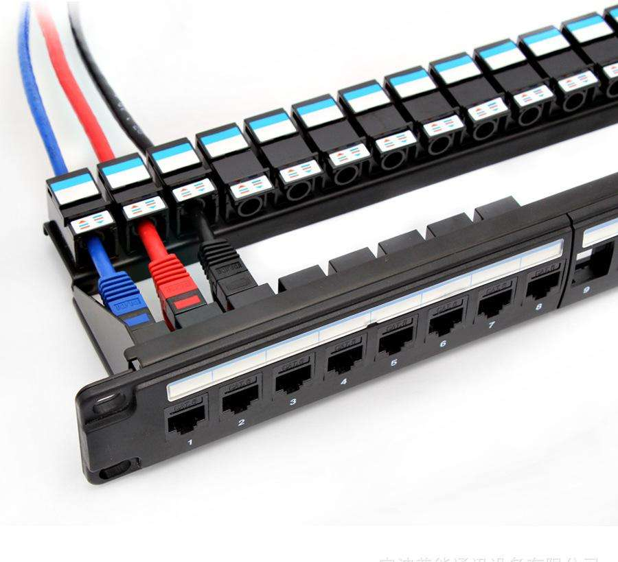 Factory price cat6 24 ports patch panel 19 inch 1u patch panel