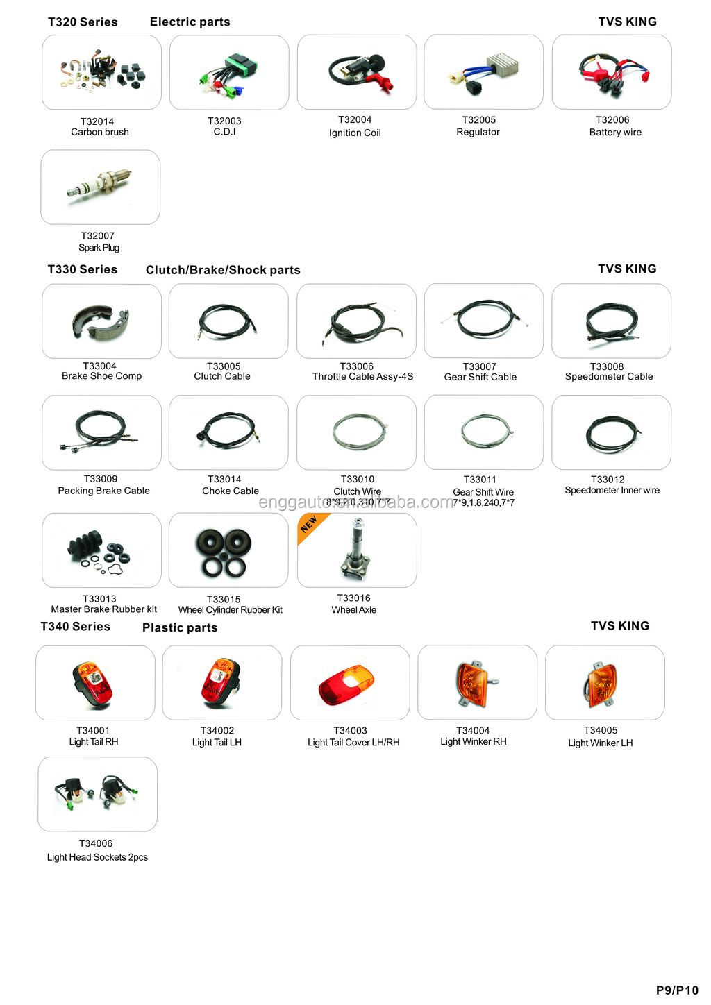 Spare Parts for TVS King