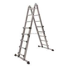 Step tray multi functional aluminum telescopic ladder double sided home ladder
