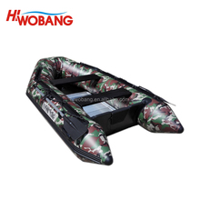 SM 290 Camouflage Military Grade PVC Boat, Fishing Boat, Inflatable Boat