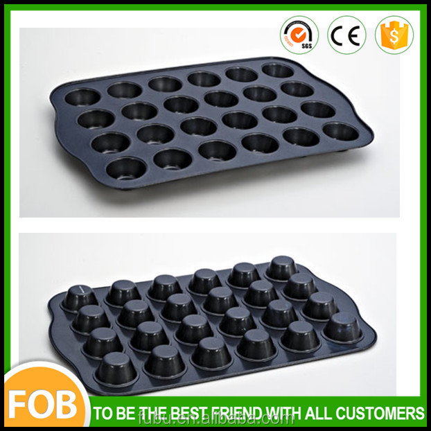 The 24 cups muffin baking pan ,the non-stick coating steel metal baking tray