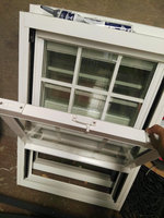 High Quality replacement window PVC top swing window water proof