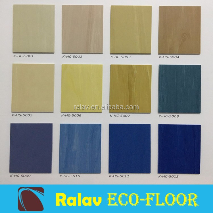 Ralav waterproof Office pvc vinyl floor roll tile design