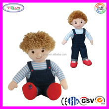 A913 High Quality Jeans Pants Boy Doll Rag Stuffed Cool Cowboy Tribe German Doll
