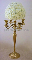 New style wholesale gold candelabra centerpiece with flower bowl for wedding and party decor