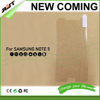 Anti-shock anti glare 0.26mm thickness thin tempered glass screen protector for Samsung galaxy note 5