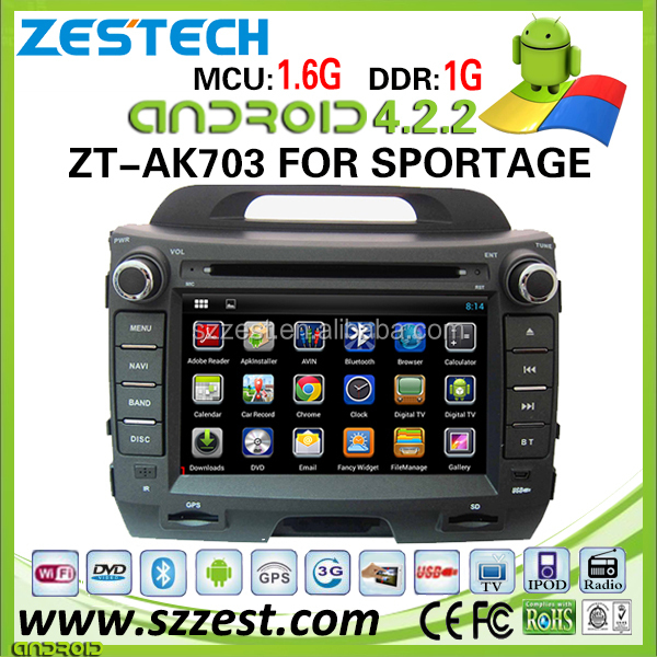 ZESTECH 2 din in-dash dvd touch screen navigation sportage android car multimedia system sat nav