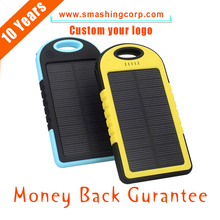 CM033 (2017 TOP) KeyChain Solar Power Bank 4050mAh for Mobile Phone, LED Light Mobile Solar Charger 5000mAh Portable Solar Power