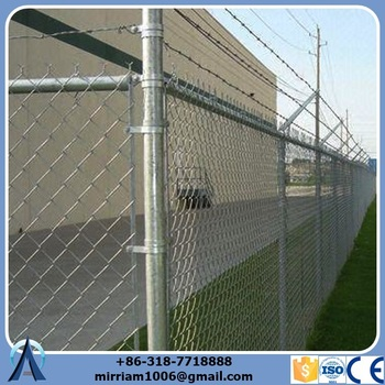 Hot-Selling High Quality Low Price epoxy coated prison chain link fence for playground