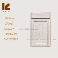 china supply pure oak wood include hardware shaker design door kitchen cabinets