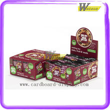 Snacks PDQ Box Advertising Tabletop Display Stand