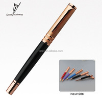 Popular color metal pen with rose golden cap