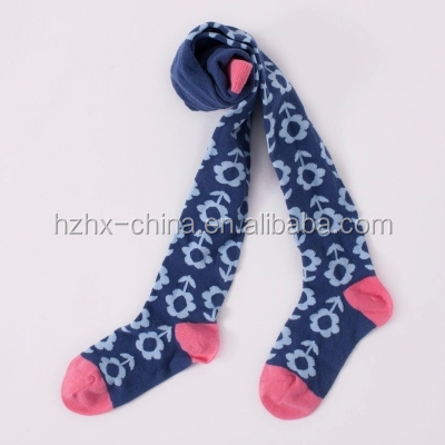 young girl thigh high happy socks oem