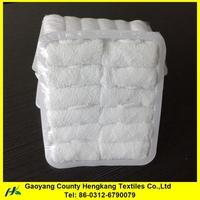 Soft bleach easy dry disposable towels for airline