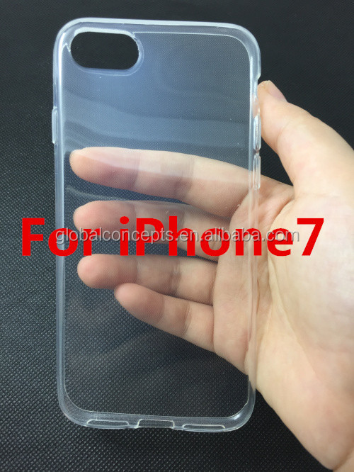 High Quality! 0.6mm Ultra Thin Soft TPU Gel Case Cover For iPhone7/7 Plus/6 plus/6/5/4