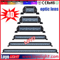 XML-10W powerful lightbars, single row side/bottom removable mounting bracket off road light bar