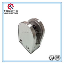 Glass balustrades fittings stainless steel D shape clamp 10mm glass clamp