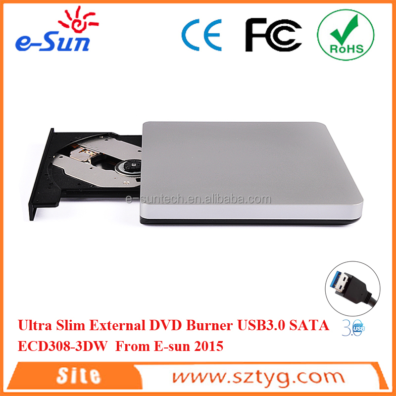 E-sun ECD308-3DW Slim External Usb 3.0 Cd-Rw Dvd Rom optical Drive Writer