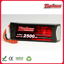 6S RC Lipo Battery 22.2V 2500mah 35C Bateria For Align Trex 450 450L Helicopters RC Models