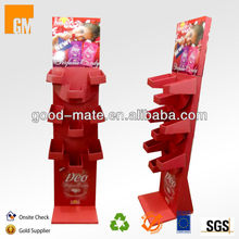 Fashionable Carton Retail Cardboard Floor Display for Candy Promotion