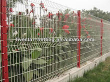 PVC coated border green garden wire mesh fence (factory)