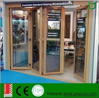 Aluminum folding openning window and door with double safety glass and AS2047