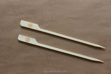 Bamboo Flat Teppo Sticks BBQ Skewers with Custom Logo