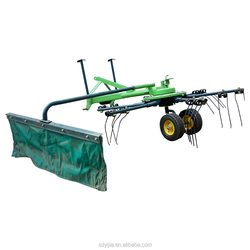 Mini tractor trailed hydraulic lifting grass rotary rake for sale