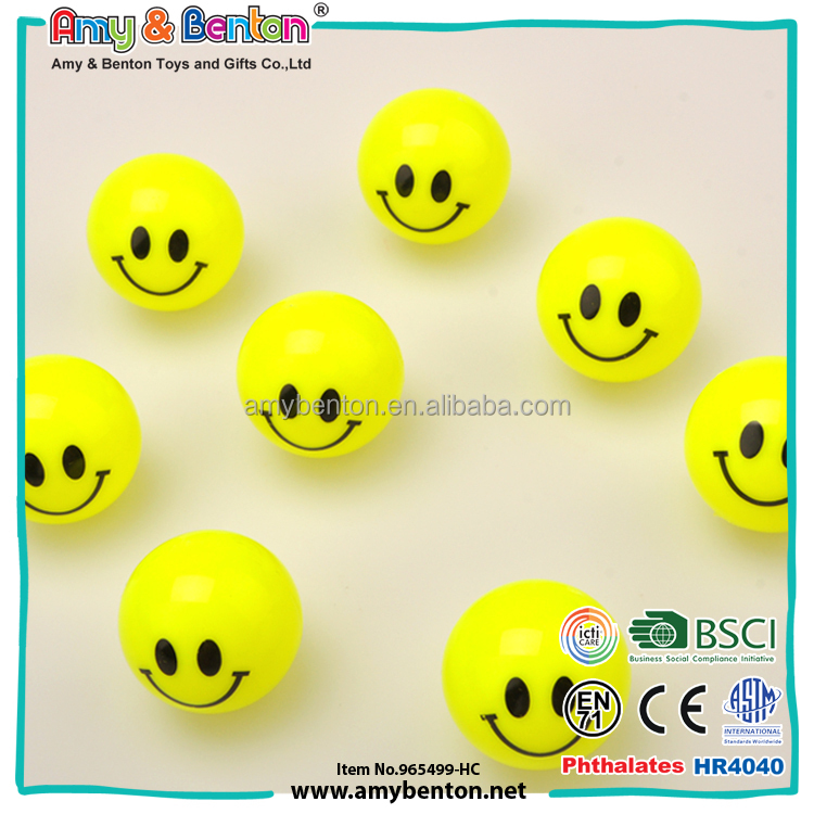 2016 Wholesale smile toys plastic emoji bouncing ball