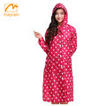 OEM service ladies pvc raincoats