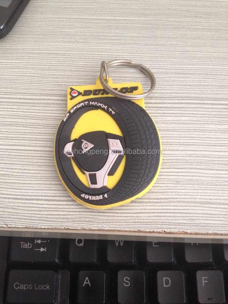 New cheap hot custom promotion gifts-3D soft pvc keychain/auto tyre