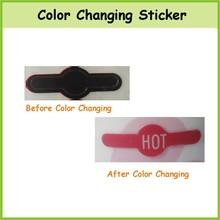 Heat sensitive Color Changing Sticker label, OEM Color Changing Sticker