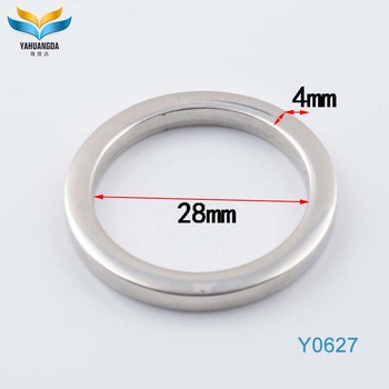 Arbitrarily size design metal ring surprint company logo metal o ring for bag