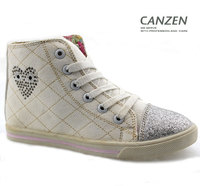 Alibaba china best sell wholesale white red yellow canvas high top shoes